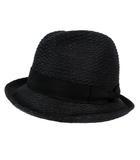 カシラ CA4LA ハット 中折れハット 帽子 テープ リボン 日本製 ブラック 黒
