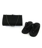 草履 ハンドバッグ  セカンドバッグ 2way 黒留袖用 ブラック 黒