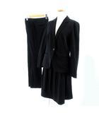 クミキョク 組曲 KUMIKYOKU ブラックフォーマル 3点セット ジャケット パンツ スカート ひざ丈 ストレッチ ブラック 黒 2 3