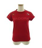 ディアドラ DIADORA Tシャツ 半袖 丸首 テニス 速乾 レッド 赤 S