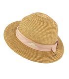 ベビーピンクハウス BABY PINK HOUSE 麦わら帽子 帽子 ハット リボン 日本製 ブラウン 茶 チェック柄 ピンク ホワイト 白 54