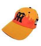 阪神タイガース キャップ 刺繍 オレンジ ブラック 黒 F