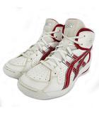 アシックス asics スニーカー バスケットボールシューズ TBF132 トレーニング ホワイト 白 レッド 赤 23.5