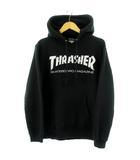 スラッシャー THRASHER パーカー トレーナー 長袖 フード ロゴ ブラック 黒 ホワイト 白 M