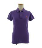ラルフローレン RALPH LAUREN ポロシャツ 半袖 ポニー 刺繍 THE SUKINNY POLO パープル 薄紫 S