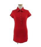 ビッキー VICKY ポロシャツ 半袖 ロング丈 レッド 赤 2