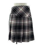 ベベ bebe スカート ラップスカート ひざ丈 ギンガムチェック柄 白 黒 赤 160