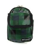 コロンビア Columbia ウエストバッグ 小物入れ ナイロン カラビナ ブロックチェック グリーン 緑 ブラック 黒