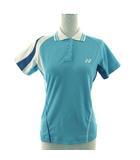 ヨネックス YONEX ポロシャツ 半袖 テニス メッシュ 水色 ホワイト 白 ブルー 青 M