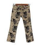 ダブルスタンダードクロージング ダブスタ DOUBLE STANDARD CLOTHING ジーンズ デニム 日本製  総柄 ベージュ グレー インディゴ 36