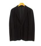 カルバンクライン プラティナム Calvin Klein PLATINUM ジャケット テーラードジャケット シングル 2B リネン混 ブラック 黒 L