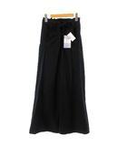 オリーブデオリーブ OLIVE des OLIVE パンツ ワイドパンツ リボン フリンジ コットン ブラック 黒 M