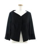 シビラ SYBILLA ジャケット フォーマル ノーカラー 七分袖 ビーズ ブラック 黒 40