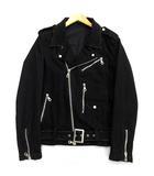 ノーアイディー NOID ライダースジャケット ダメージ加工 ユーズド加工 コットン混 ストレッチ 日本製 ブラック 黒 3