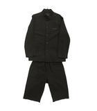 ジュンココシノ JUNKO KOSHINO セットアップ 上下セット ジャケット マオカラー パンツ 男の子 ドットストライプ ブラック 黒 ベージュ 130