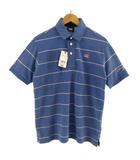 カンタベリー CANTERBURY ポロシャツ RA39109 半袖 ロゴ 刺繍 ボーダー ブルー 青 ピンク M