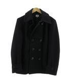 タケオキクチ TAKEO KIKUCHI コート Pコート ピーコート ウール混 ブラック 黒 4
