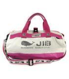 ジブ JIB ボストンバッグ ショルダー ロゴ ピンク ホワイト 白