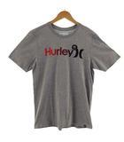 ハーレー Hurley Tシャツ 半袖 丸首 ロゴプリント SOFT グレー M