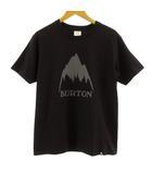 バートン BURTON Tシャツ 半袖 丸首 ロゴプリント ブラック 黒 S