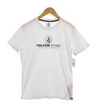 ボルコム VOLCOM Tシャツ 半袖 丸首 ロゴプリント ホワイト 白 S