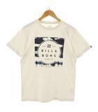 ビラボン BILLABONG Tシャツ 半袖 ロゴ プリント ベージュ M