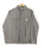 ポインター POINTER ジャケット カバーオール デニム USA製 ヒッコリー ストライプ ネイビー 紺 オフ白 M