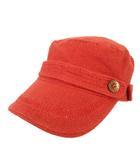 ディーゼル DIESEL ワークキャップ 帽子 コットン オレンジ