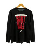 アンダーアーマー UNDER ARMOUR Tシャツ 長袖 ロンT プリント バスケットボール ブラック 黒 レッド 赤 L