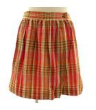 バーバリーズ Burberrys スカート ラップスカート リネン混 女の子 チェック オレンジ マルチカラー 150A