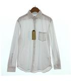 チャオパニック ティピー CIAOPANIC TYPY シャツ ワイシャツ 長袖 鹿の子 コットン混 COOL MAX ホワイト 白 S