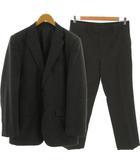 コムサイズム COMME CA ISM スーツ セットアップ 上下セット ジャケット テーラードジャケット シングル 2B パンツ ウール混 ストライプ グレー XL