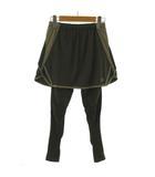 ニューバランス NEW BALANCE タイツ スカート インナースパッツ 切替え カーキ グリーン 緑 ベージュ M