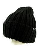 ステューシー STUSSY ニットキャップ 帽子 リブ ブラック 黒