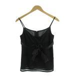 キャミソール リボン 裾レイヤード ブラック 黒 2