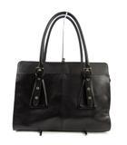 オフオン ofuon ビジネスバッグ トートバッグ 鞄 肩がけ フェイクレザー 型押し ブラック 黒