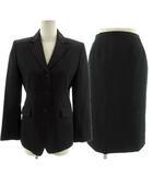 コムサコムサコムサ COMME CA COMME CA COMME CA スーツ スカートスーツ セットアップ 上下セット ジャケット テーラードジャケット シングル 3B スカート ミディ丈 ブラック 黒 9
