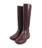 アグ オーストラリア UGG australia レインブーツ 長靴 ブーツ サイドファスナー パープル系 紫系 あずき色 22