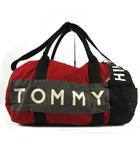 トミーヒルフィガー TOMMY HILFIGER バッグ ボストンバッグ ショルダーバッグ 鞄 円筒 ロゴ レッド 赤 ブラック 黒 グレー