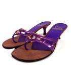 クリスチャンルブタン Christian louboutin サンダル レザー エナメル イタリア製 パープル 紫 38