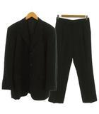 ユミカツラ YUMI KATSURA ブラックフォーマル スーツ セットアップ ジャケット テーラードジャケット シングル 3B パンツ ウール ブラック 黒 96A-7