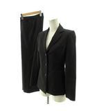 インディヴィ INDIVI スーツ パンツスーツ セットアップ 上下セット ジャケット テーラードジャケット シングル 3B パンツ ウール 日本製 ドットストライプ ブラック 黒 38