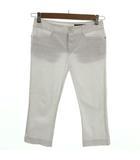 クードシャンス CdeC COUP DE CHANCE パンツ 七分丈 裾スリット コットン混 日本製 ホワイト 白 38
