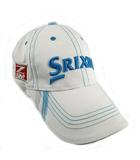 スリクソン SRIXON キャップ 帽子 立体刺繍 ホワイト 白 ブルー 青 フリーサイズ