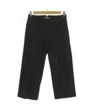 マーガレットハウエル MARGARET HOWELL パンツ ワイドパンツ バックシンチベルト 日本製 コットン ブラック 黒 3