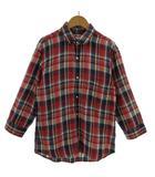 アーバンリサーチ URBAN RESEARCH シャツ 七分袖 リネン 日本製 チェック レッド 赤 ネイビー 紺 ブルー 青 イエロー 黄色 ホワイト 白 M
