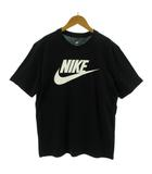 ナイキ NIKE Tシャツ 丸首 半袖 ロゴプリント ブラック 黒 ホワイト 白 M
