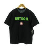 ナイキ NIKE Tシャツ 丸首 半袖 JUST DO IT プリント ブラック 黒 M