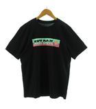 ナイキ NIKE Tシャツ 半袖 丸首 JUST DO IT プリント ブラック 黒 マルチカラー L