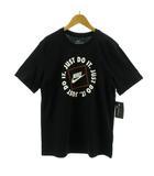 ナイキ NIKE Tシャツ 半袖 丸首 JUST DO IT ロゴプリント STANDARD FIT ブラック 黒 ホワイト 白 L